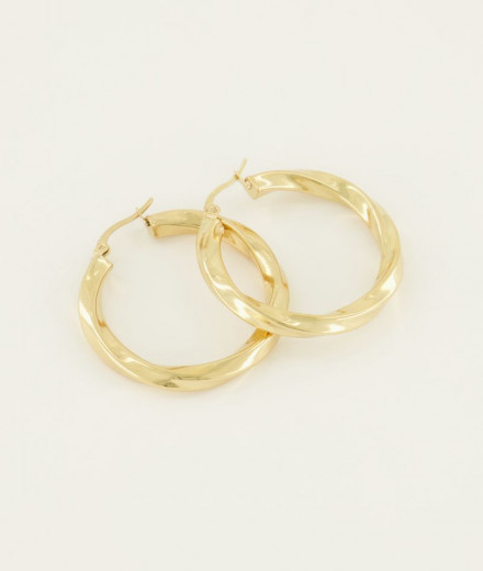 Boucles d'oreilles MAY - or
