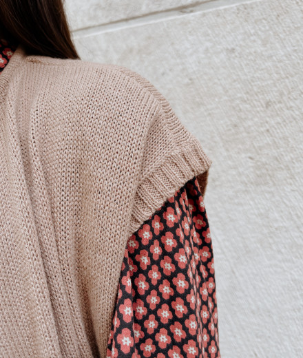 Gilet YSEULT - taupe