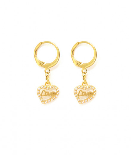 Mini boucles d'oreille Love