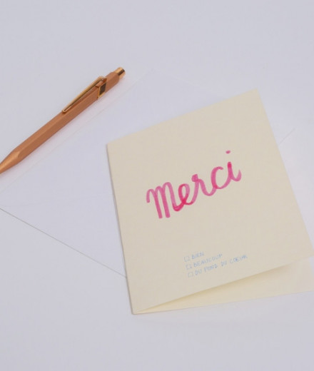 "Carte QCM ""Merci"""