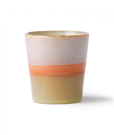 Tasse céramique orange/rose