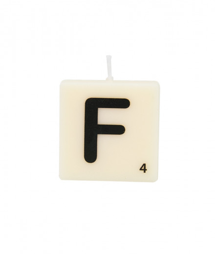 Bougie lettre - F