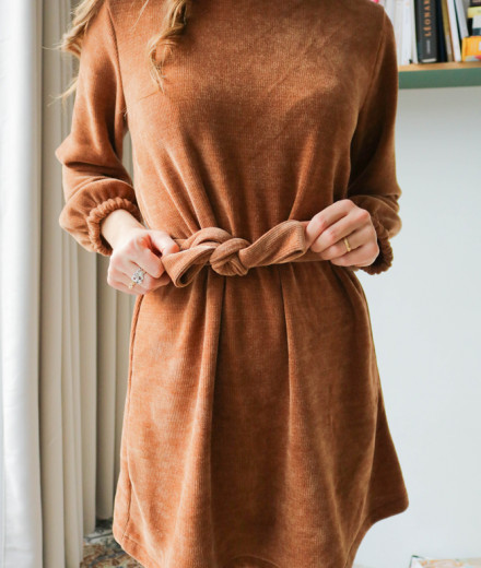"Robe ""I got you, babe"" - camel"