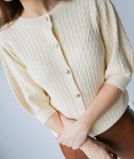 "Cardigan ""Love is in the..."