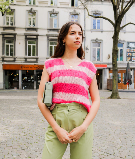 Pull sans manches BRUCE - rose